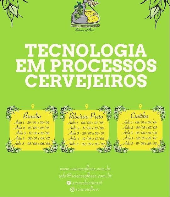 Curso de Tecnologia em processos cervejeiros 2017