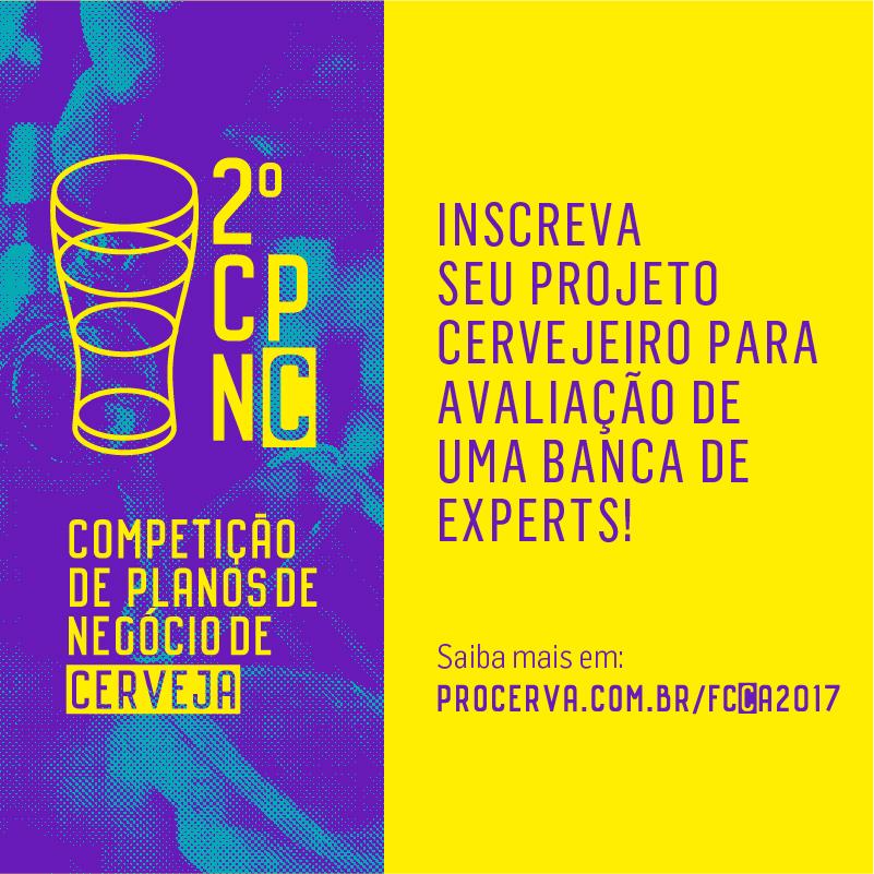 Inscrições abertas para o 2ª Competição de Planos de Negócio de Cerveja